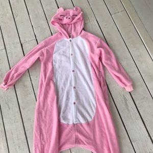 Adult pig onesie pink piglet
